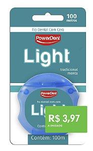 Fio DEntal Powerdent Light 100m (pacote com 12 unidades)
