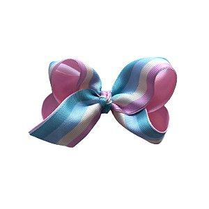 Laço de Cabelo Arco-Íris Candy Color