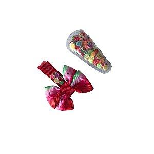 Kit Hair Clip Infantil Frutinhas