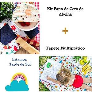 Kit Presente Pano de Cera de Abelha + Tapete Multiprático