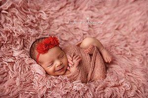 Faixa de Bebê Flores Organza