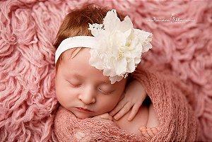 Faixa de Bebê Flor Organza