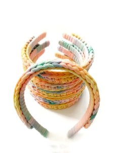 Tiara de Cabelo Trançada Tie Dye