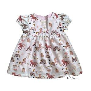 Vestido de Bebê Unicórnio