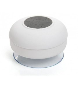Mini Caixa de Som Bluetooth à Prova d'água - BTS06 - Preto/Branco