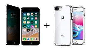Kit Película De Privacidade 3m Para iPhone 7/8 + Capa iPhone 7/8