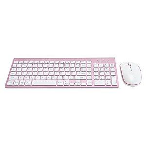 Kit Teclado + Mouse Sem Fio K-W510PWH C3T