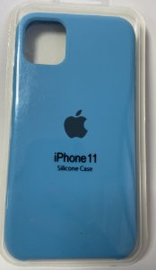 Capa silicone iPhone 11 Apple - Azul