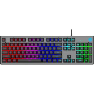 Teclado Usb Gamer Membrana K500f Led Preto Hp