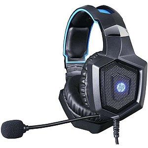 Fone Com Microfone Gamer Stereo 1 P2+Usb H320 Led Hp
