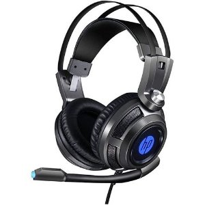 HEADSET GAMER 1 P2+USB H200 LED PRETO HP