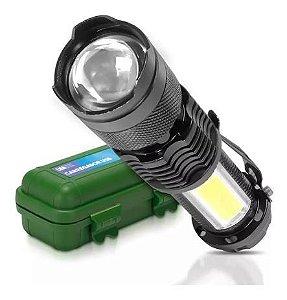 Mini Lanterna Luminária Zoom Recarregável Usb Estojo