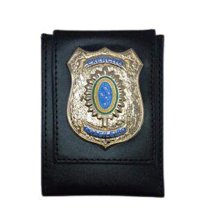 Carteira EB Escudo Dourado Brasão