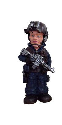 Cofre Boneco Militar - Azul