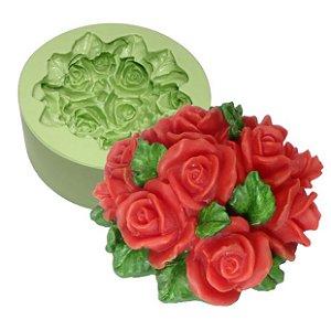 Molde de Silicone Para Velas e Sabonetes  Ramalhete de Rosas