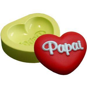 Molde de Silicone Coração do Papai Para Velas e Sabonetes