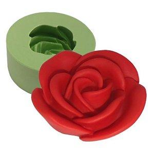 Molde de Silicone Rosa Desabrochando Para Velas e Sabonetes