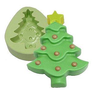 Molde de Silicone Arvore de Natal Deitada Para Velas e Sabonetes