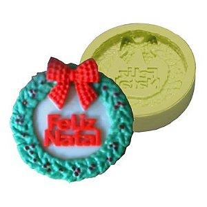 Molde de Silicone Guirlanda Feliz Natal Para velas e Sabonetes