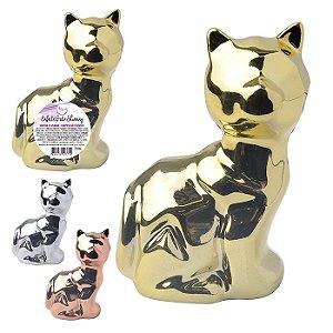Enfeite de Cerâmica Gatos Hinning