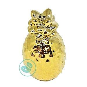 Enfeite Decorativo de Porcelana Abacaxi