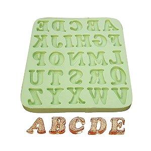 Molde de Silicone Letras Mini Para Velas e Sabonetes