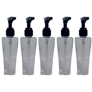 Kit 05 Frascos Para Álcool Gel ou Sabonete Liquido 100 ML Com Válvula Pump Dosadora VAZIO