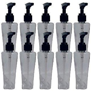 Kit 10 Frascos Para Álcool Gel ou Sabonete Liquido 100 ML Com Válvula Pump Dosadora VAZIO