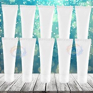 10 Bisnagas Para Álcool Gel De Bolsa 30 Ml Flip Top Vazia