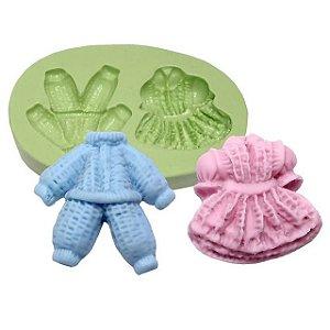 Molde de Silicone Roupinhas de Bebês Para Velas e Sabonetes