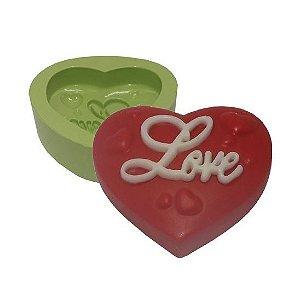 Molde de Silicone Coração Love Para Velas e Sabonetes