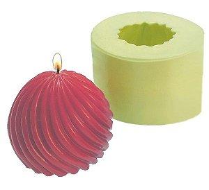 Molde de Silicone Bola Espiral Para Velas e Sabonetes
