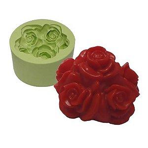Molde de Silicone Bouquet De Flores Para Velas e Sabonetes