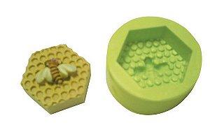 Molde de Silicone Colmeia Pequena Para Velas e Sabonetes