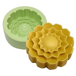 Molde de Silicone Flor Mandala Para Velas e Sabonetes