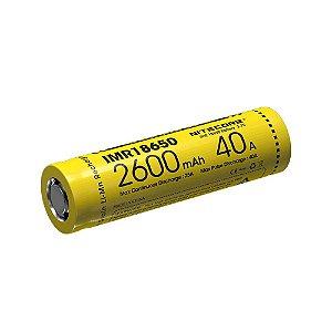 Bateria 18650 de Lithium Power IMR 40A 2600mAh - Nitecore