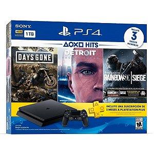 Playstation 4 Slim 1TB C/3 jogos