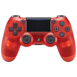 Controle PlayStation 4 Cristal Vermelho