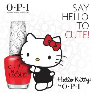 Kit Esmalte Opi Say Hello Kitty 15ml - Swarovski - Edição Limitada
