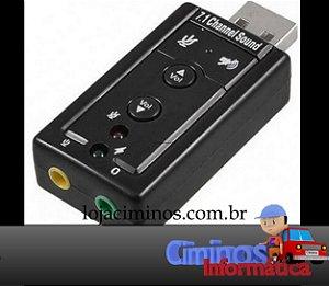 Placa de Som USB Stéreo.