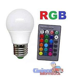 Lâmpada LED Colorida com Controle Remoto