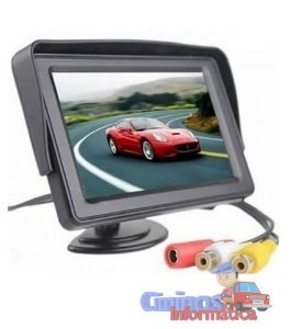 "Monitor Stand And Security TFT Tela LCD 4.3"" 12V"