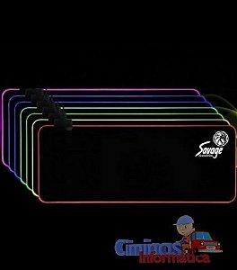 Mouse Pad Gamer Extra Grande 80cmX30cm - LED RGB