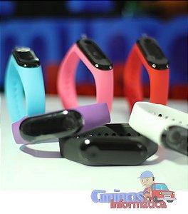 Relógio Smartband Health M3 Bluetooth - Pulseira Colorida + Preta