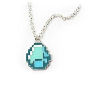Colar Minecraft Diamante