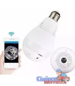 Lampada Espiã Ip 360° Hd Led Wifi