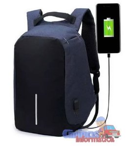 Mochila Anti Furto Celular Notebook Roubo Usb