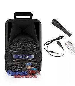 Caixa De Som Portátil Bluetooth Karaokê Com Microfone
