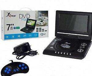 DVD Player Portátil 7'' TV/DVD/USB/SD/MMC