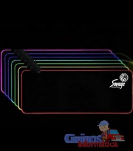 Mouse Pad  80x30 com Led RGB